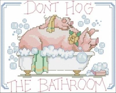 Dimensions 72101 Don't Hog the Bathroom
